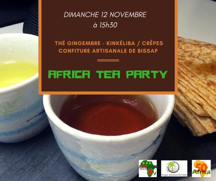 Africa thé partie avec logo